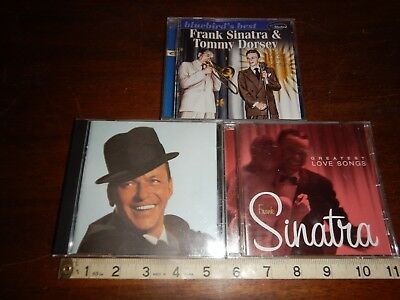 Frank Sinatra Lot of 3 music cd's Greatest Love songs Voice of the Century Best