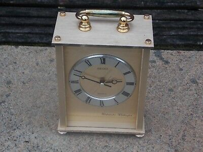 Large Seiko Carriage Clock with Westminster & Whittington Dual Chime in GWO