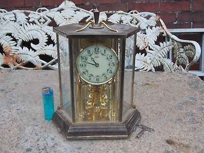 Vintage Kundo Anniversary Clock in Mirror Back Case