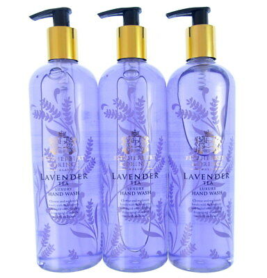 Lavender tea  x 3 luxury hand wash 500mls each fitzherbert & prince