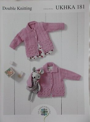 14e900be78b3 UKHKA 181 BABY Double Knitting Pattern Round Neck or Collar Lacy ...