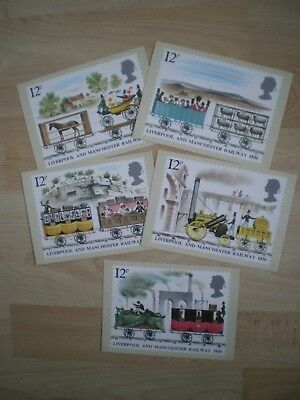 Post Office Picture Card  Stamp Postcards  Liverpool & Manchester Railway 1830