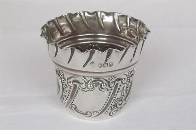 A Superb Antique Solid Sterling Silver Victorian Posy Bowl London 1899.