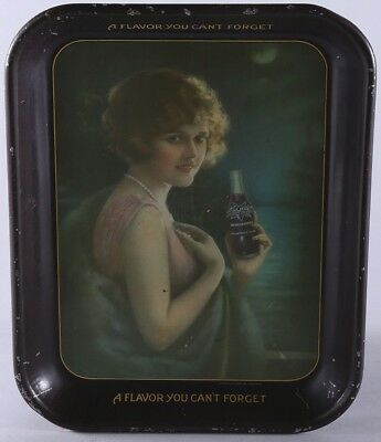 1920s NuGrape Soda Advertising Tray Dreamy Flapper Pin-up Girl Soda Fountain Era