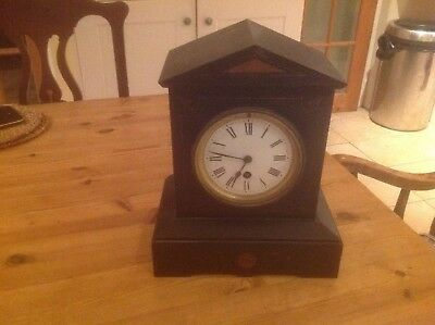 Slate And Mantle Mantle Clock