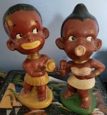 Two 1950's Black Americana Bobble Head Nodders