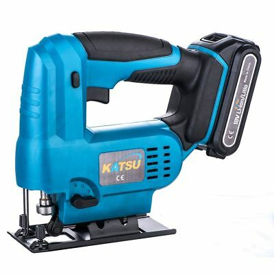 KATSU 102752 Cordless Jigsaw 18V Include 2.0Ah Battery With 2 Blades and Charger
