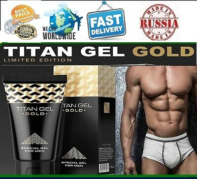 TITAN GEL GOLD INTIMATE SPECIAL FOR MEN 100% ORIGINAL from Russia HENDELS GARDEN