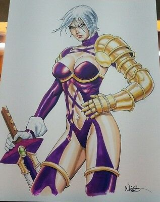 Ivy (Soul Calibur) color original art!  Kevin West!