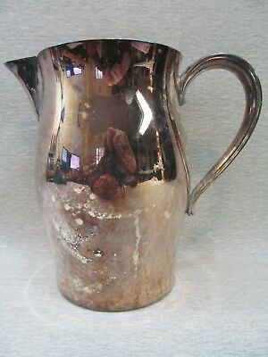Vintage Silver Plated Paul Revere Reproduction Water Beverage Pitcher 7.5""