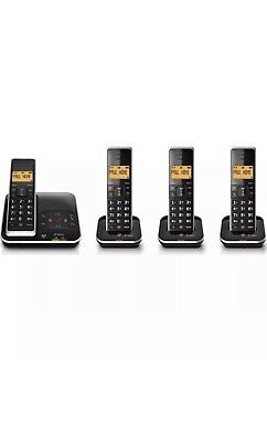 BT Xenon 1500 Cordless Phone with Answering Machine – Quad H&sets