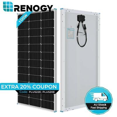 NEW Compact Design Renogy 100W Watt Mono Solar Panel 12V Volt Off Grid PV Power