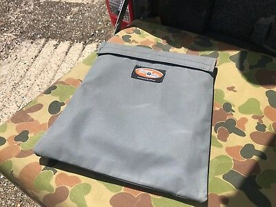 Map guide book bag. Grey.  Australian made Australian Canvas. For Camps 9 Hema