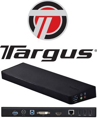TARGUS ACP70AU Dock USB 3 DUAL Display VIDEO Docking Station w/POWER APAPTER!!