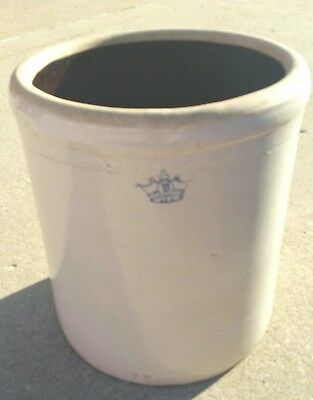 MADE IN USA (10 Gallon) BLUE CROWN STONEWARE VINTAGE Pot CROCK