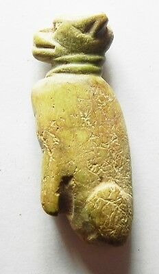 ZURQIEH -as8679- ANCIENT HOLY LAND.CANAANITE BONE FIGURE OF A CAT. 1400 BC