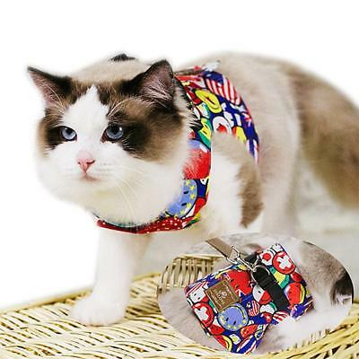 Pet Puppy Cat Walk Leash Pet Vest Traction Rope Dog Harness Collar Chest Strap