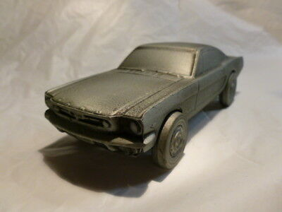 Mustang Fastback Metal Bank Silver Color