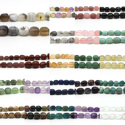 """Freeform Natural Stone Chips oval Beads For Jewelry Making DIY 15"""""""
