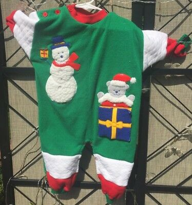 d04f88f99 Vintage Hush Puppies Baby Infant Boy One Piece Christmas Outfit 12-18M