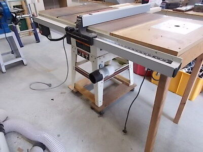 Jet brand table saw customised to include a Triton router & motor cover