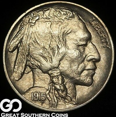 1915 Buffalo Nickel, Razor Sharp FULL Strike, Better Date