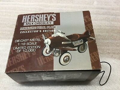 1:18 Die-Cast Hershey's Miniature Pedal Plane Collector's Limited Edition Xonex