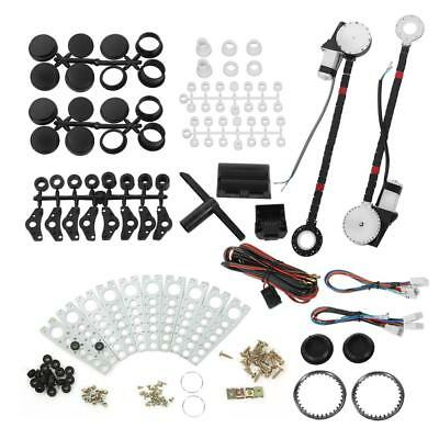 Universal 2 Door Car Truck Electric Power Window Conversion Kit Roll Up Switches
