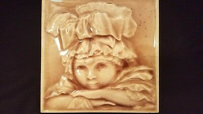 Antique Hamilton Tile of Little Girl