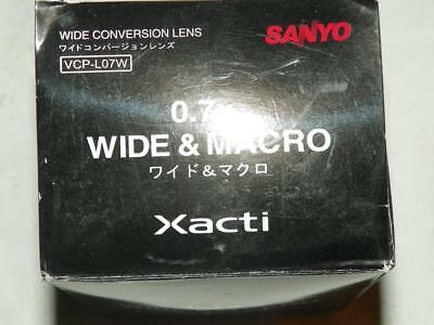 Sanyo Xacti 0.7X Wide Angle And Macro Adapter Vcp-L07W, Mint In Box