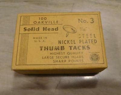 Vintage Oakville Thumb Tacks Solid Large Head, No, 3 ***Special*** (TT112018)