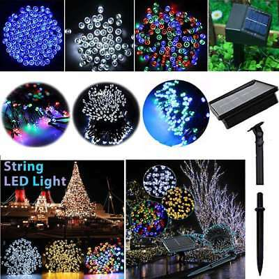 100-300 LED Solar String Lights Multi Outdoor Garden Party Christmas Fairy Lamp