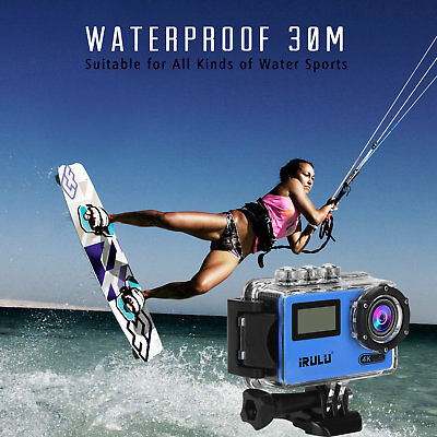 2.45 Inch Sport Action Camera 16MP 4K 170° with Accessories Waterproof WiFi  LCD