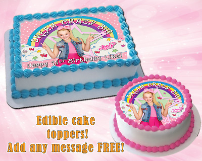 JOJO SIWA EDIBLE Birthday cake topper Personalized Premium Frosting ...