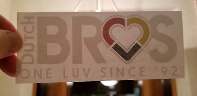 RARE Dutch Bros Coffee One Luv Since '92 Vinyl Sticker - New FREE SHIP