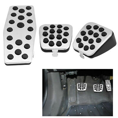 Stainless Fuel Clutch Brake Pedal Pad Cover For Cruz Vauxhall Astra J Insignia A