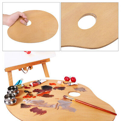 Vintage Artist Oval Wooden Palette Oil/Acrylic Paint Tray Painting Tool for Gift