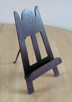 """Vintage 9.25"""" Wooden Easel Picture Stand"""