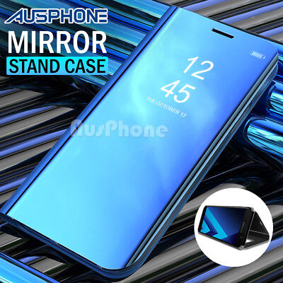Luxury Slim Smart Mirror View Flip Case Cover For Samsung Galaxy A8 2018 AU