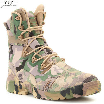 YJP Men's Outdoor Hiking Tactical Military Combat Boots Army Survival Shoes