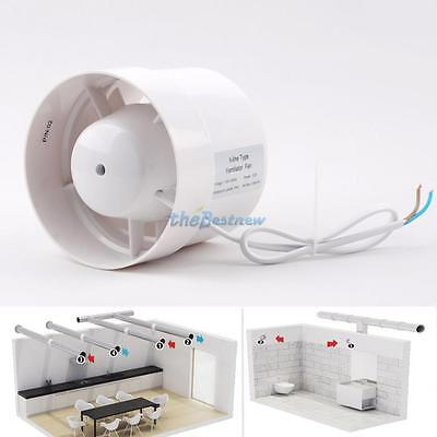 """4"""" Inline Duct Booster Fan Cooling Exhaust Blower Air Cooling Vent Fan ABS thbtm"""