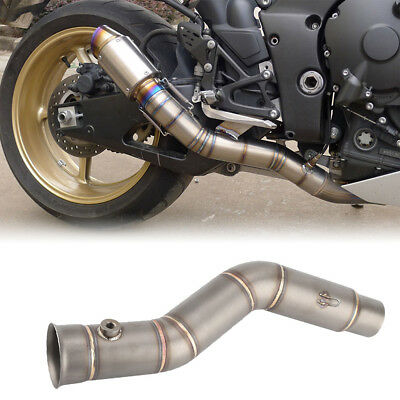Motorcycle Slip on Exhaust Muffler Middle Link Pipe Connector for YAMAHA YZF-R1