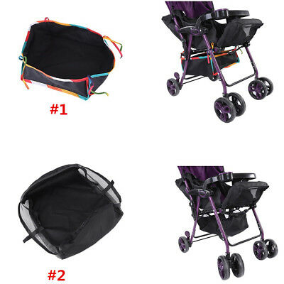 2Types Universal Under Net Bag for Baby Buggy Stroller Pram Shopping Basket CO