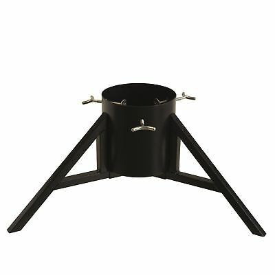 Metal Christmas Tree Stand for Real Xmas Trees Black Scandi Industrial Base