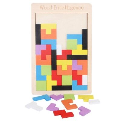 Baby Educational Wooden Puzzle Interesting Blocks Building Intelligent Toys Gift