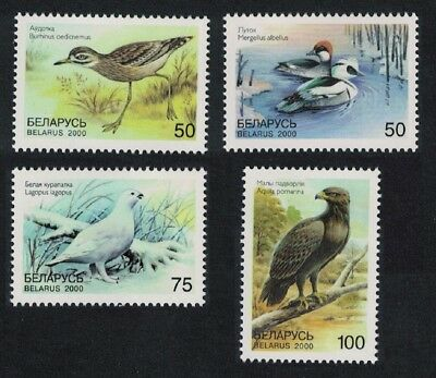 Belarus Curlew Smew Grouse Eagle Birds in the Red Book 4v MNH SG#397-400