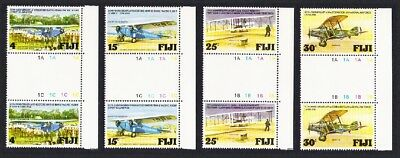 Fiji Aviation Anniversaries Airplanes 4v Right Gutter Pairs MNH SG#552-555