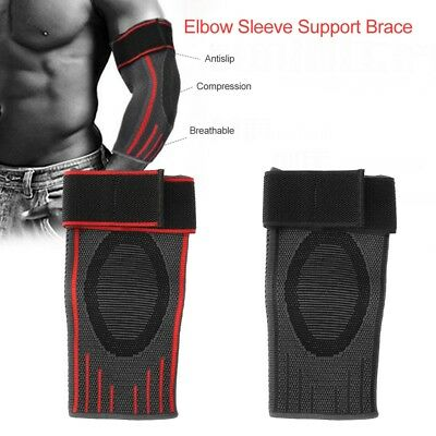 Elbow Sleeve Support Brace Sports Arm Pad Guard Band Fit Gym Elastic Bandage