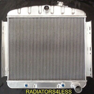 New 3 Row Aluminum Radiator 1955 1956 Chevy Bel Air Fits 6Cyl Core Support