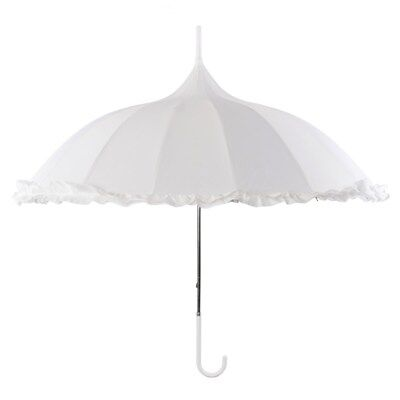 Oriental Ornate Pagoda Occasion Umbrella, with Frilled Border.